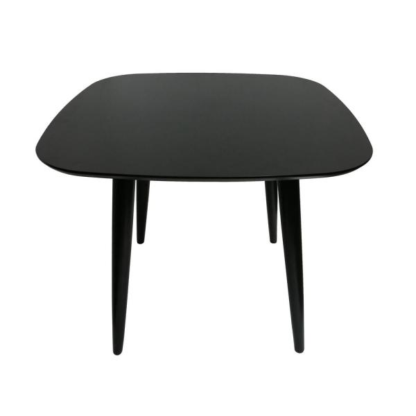 Noble House Wynonna Mid Century Modern Square Black Faux Wood Dining