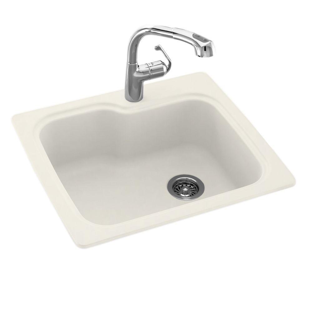 Bisque Undermount Kitchen Sink
