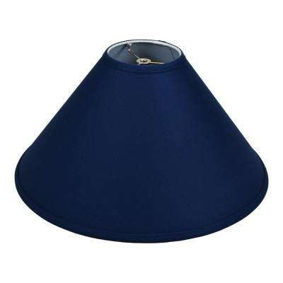 18 in. W x 9 in. H Navy Blue/Nickel Hardware Coolie Lamp Shade