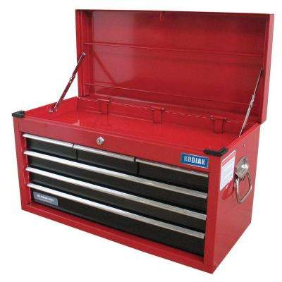 26 in. 6-Drawer Top Chest in Red