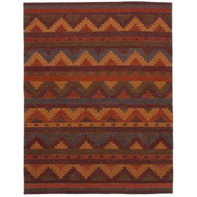 Ankara Kilim Dark Red 6 ft. x 8 ft. Indoor Area Rug