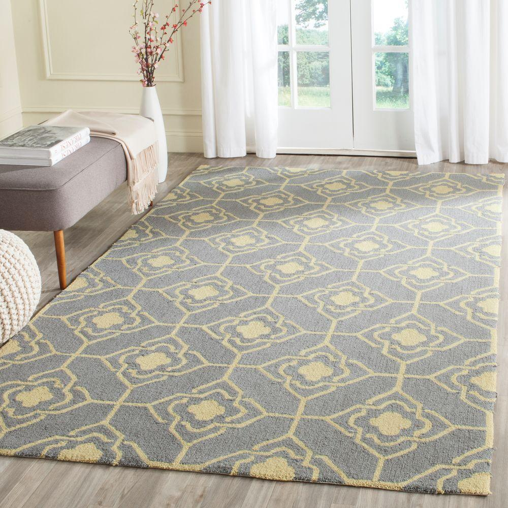 Large Area Rugs Gold: Safavieh Four Seasons Grey/Gold 5 Ft. X 8 Ft. Indoor