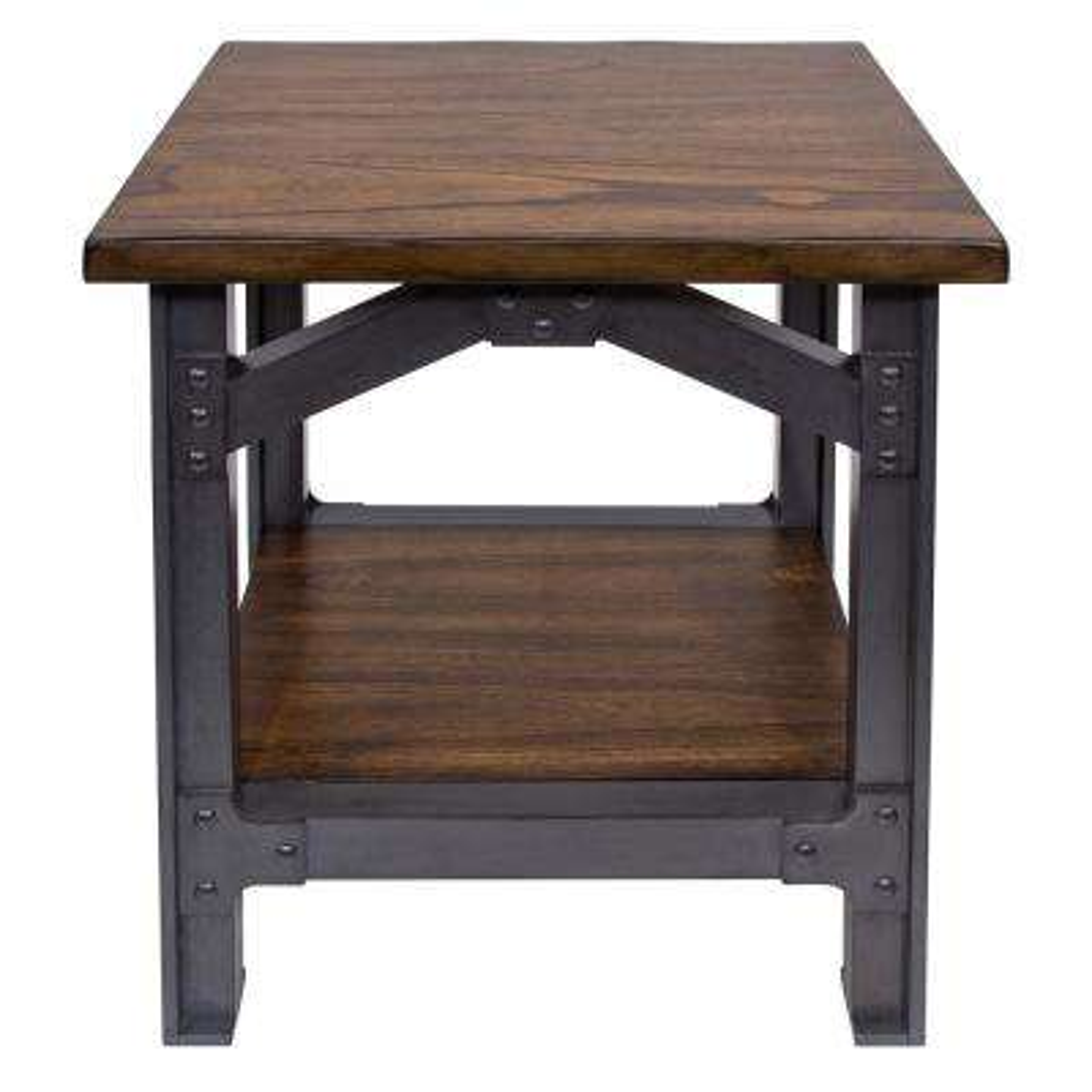 Bethel Park Graphite Grey/ Brown Side Table