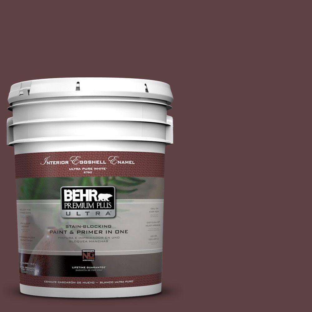 BEHR Premium Plus Ultra 5-gal. #S-G-700 Wild Raisin Eggshell Enamel Interior Paint