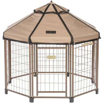 Low Profile 4 ft. Outdoor Pet Gazebo Dog Kennel