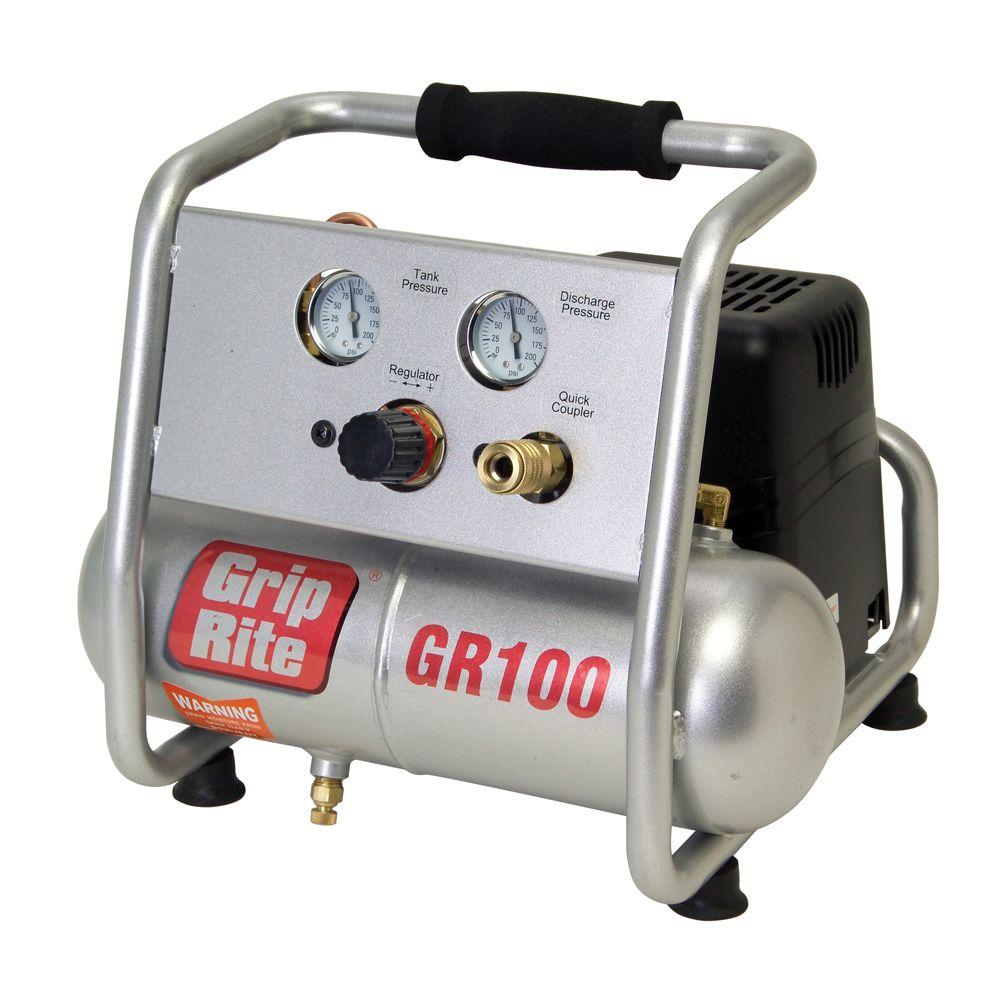 Grip-Rite 1 gal. Portable Finish and Trim Compressor