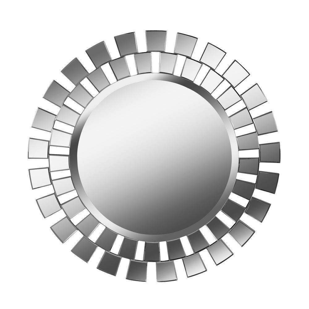 Sullivan Round Glass Decorative Wall Mirror