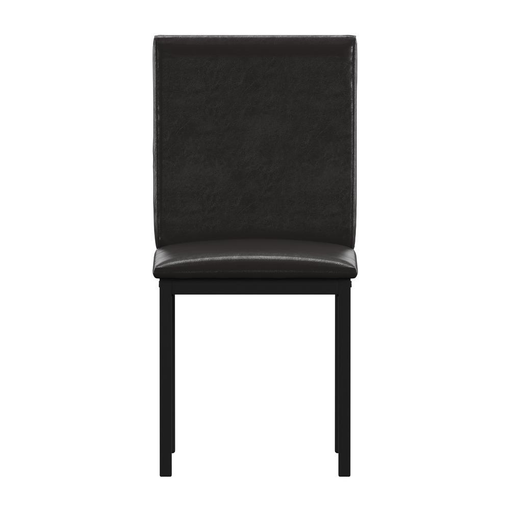 HomeSullivan Black Dark Brown Pu Side Chair (Set of 2) 402601S-2(3A)[2PC]