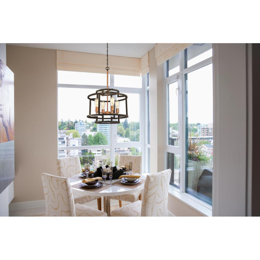 Westinghouse Weston 4-Light Oil Rubbed Bronze and Washed Copper Chandelier