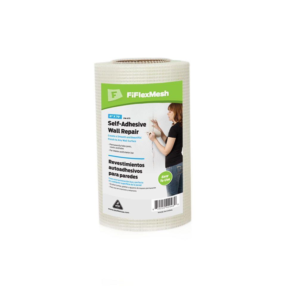 6 inch W x 75 ft. L Fiberglass Self-Adhesive Mesh Drywall Joint Tape FM-67512...