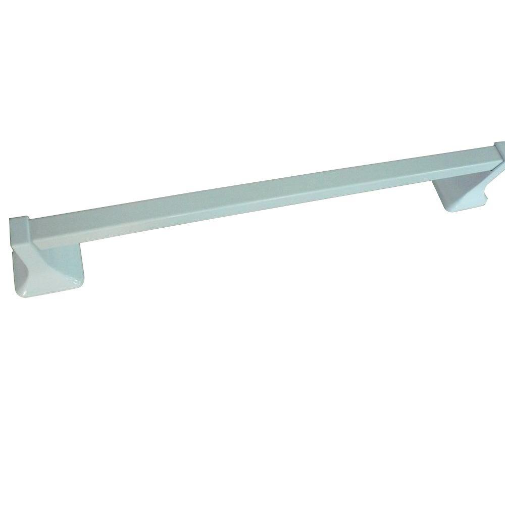 Glacier Bay Futura 24 in. Towel Bar in White