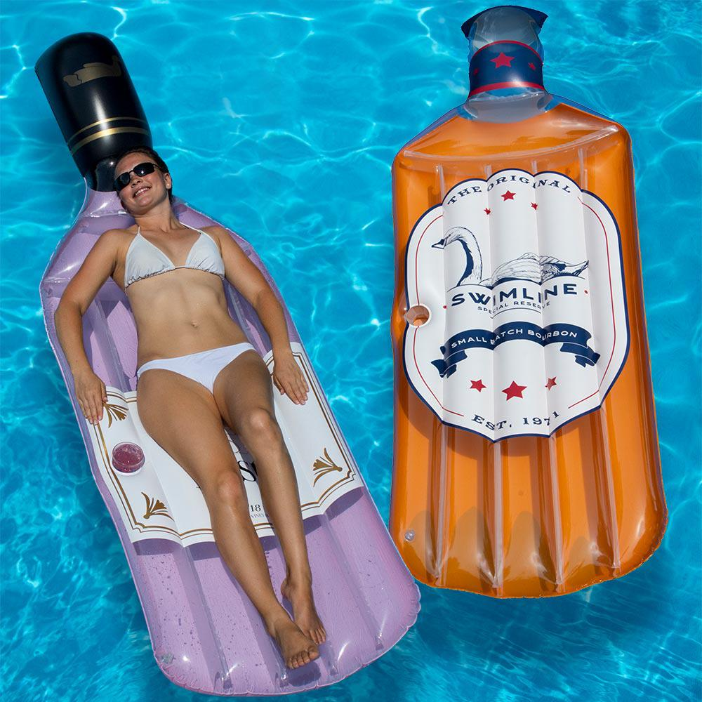 Swimline The Bourbon Float and The Rose Float Combo Pack Pool Float