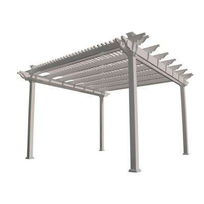 Largo 14 ft. x 14 ft. Tan Double Beam Vinyl Pergola