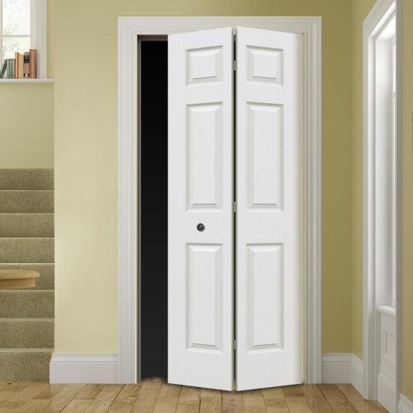 Unbranded 24 In X 80 In Colonist Primed Textured Molded Composite Mdf Closet Bi Fold Door Thdjw160600147 The Home Depot