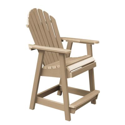 Hamilton Tuscan Taupe Counter-Height Recycled Plastic Outdoor Dining Chair