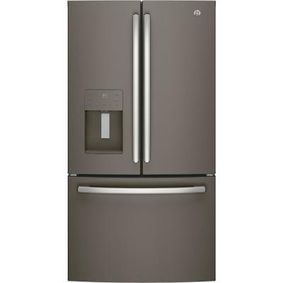 GE 25.6 cu. ft. French-Door Refrigerator in Slate, Fingerprint Resistant and ENERGY STAR