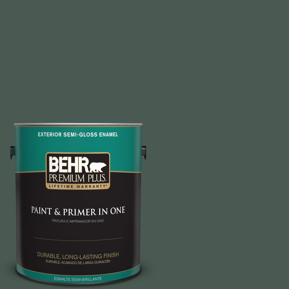 1-gal. #S420-7 Secluded Woods Semi-Gloss Enamel Exterior Paint