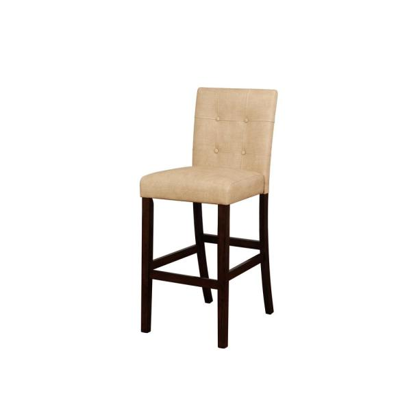 Linon Home Decor Nico 30 in. Beige and Brown Bar Stool