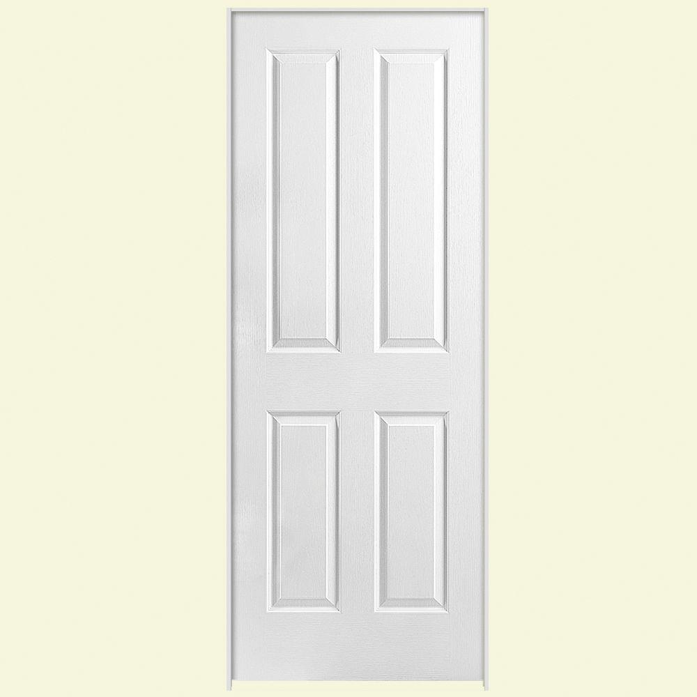 Masonite Solidoor Textured 4-Panel Square Solid Core Primed Composite Single Prehung Interior Door