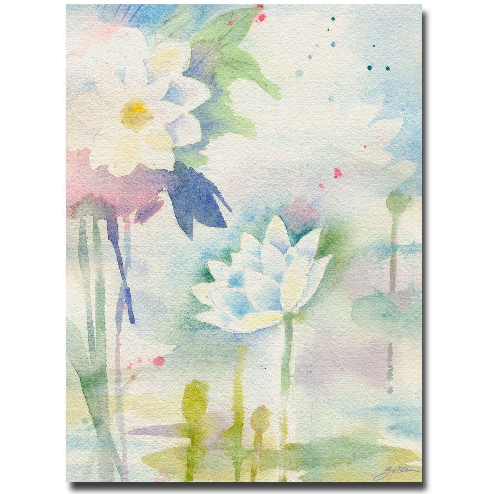 Trademark Fine Art 24 in. x 32 in. White Lotus Canvas Art