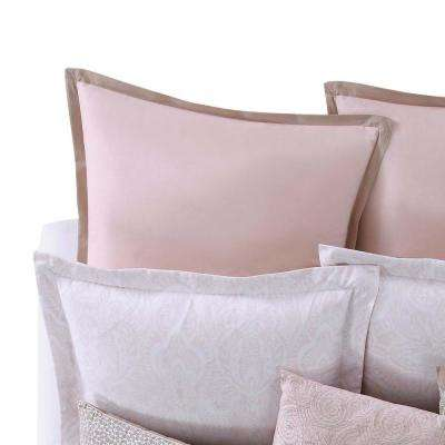 Ombre Lace Pink Euro Sham