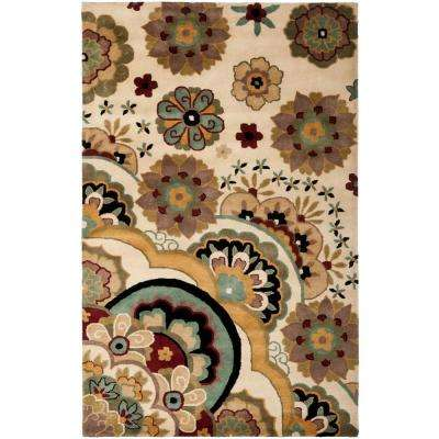 Soho Ivory/Multi 6 ft. x 9 ft. Area Rug