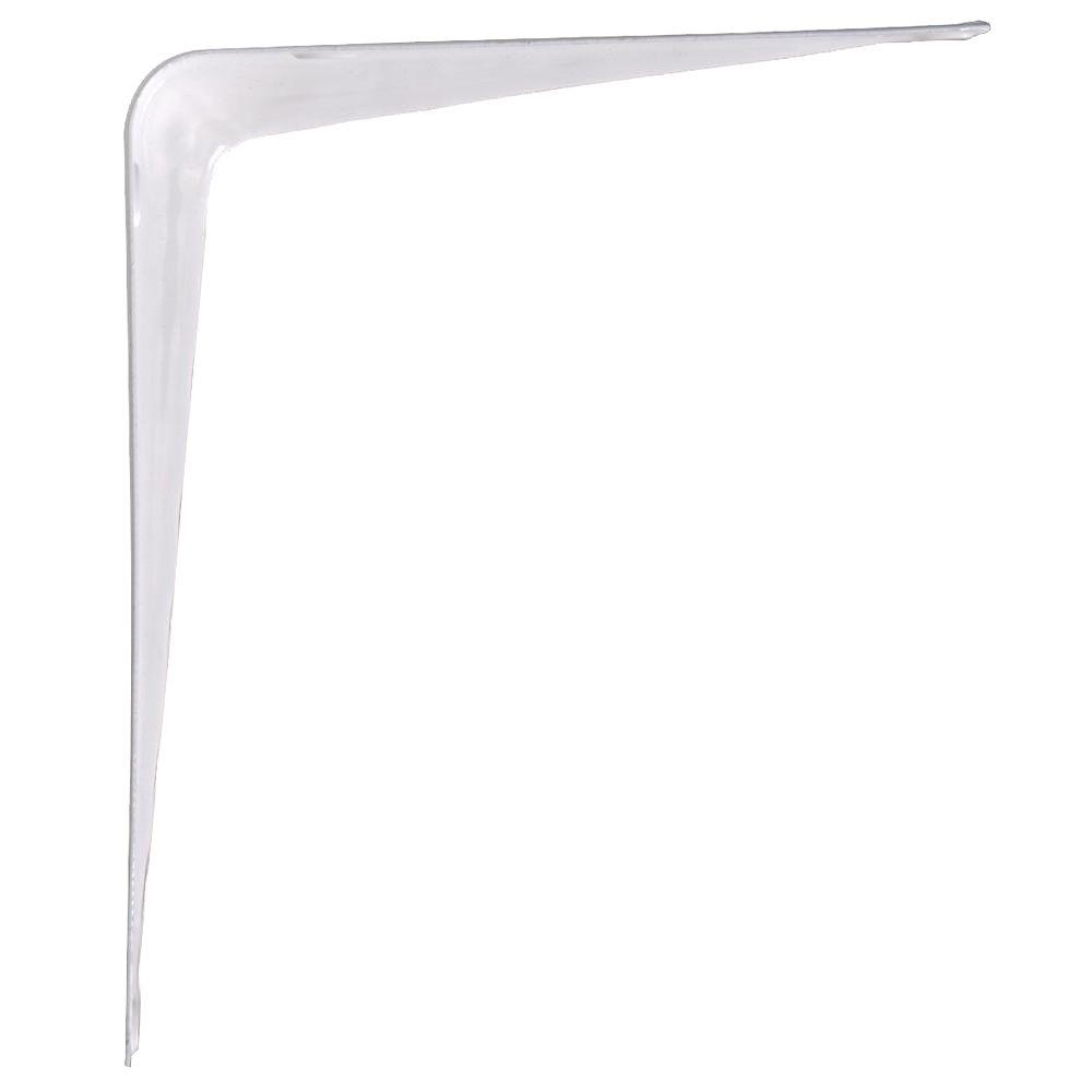 The Hillman Group 12 in. x 14 in. White Shelf Bracket (20-Pack)