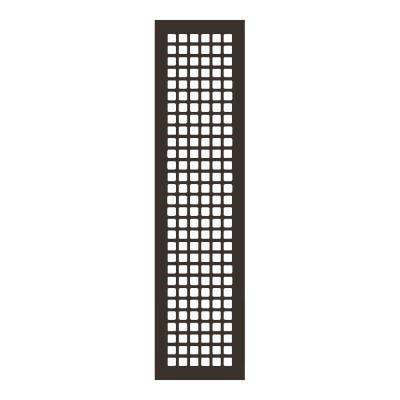 Square Series 30 in. x 6 in. Steel Grille, Oil Rubbed Bronze without Mounting Holes