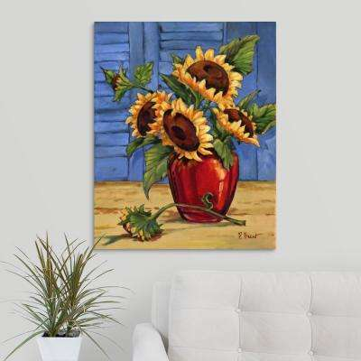"""Sunflower Vase"" by  Paul Brent Canvas Wall Art"