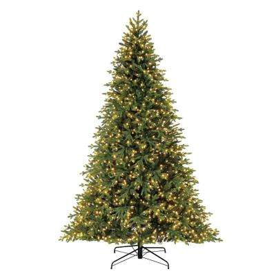 9 ft. Pre-Lit LED McClain Spruce Artificial Christmas Tree with 1250 SureBright Color-Changing Lights