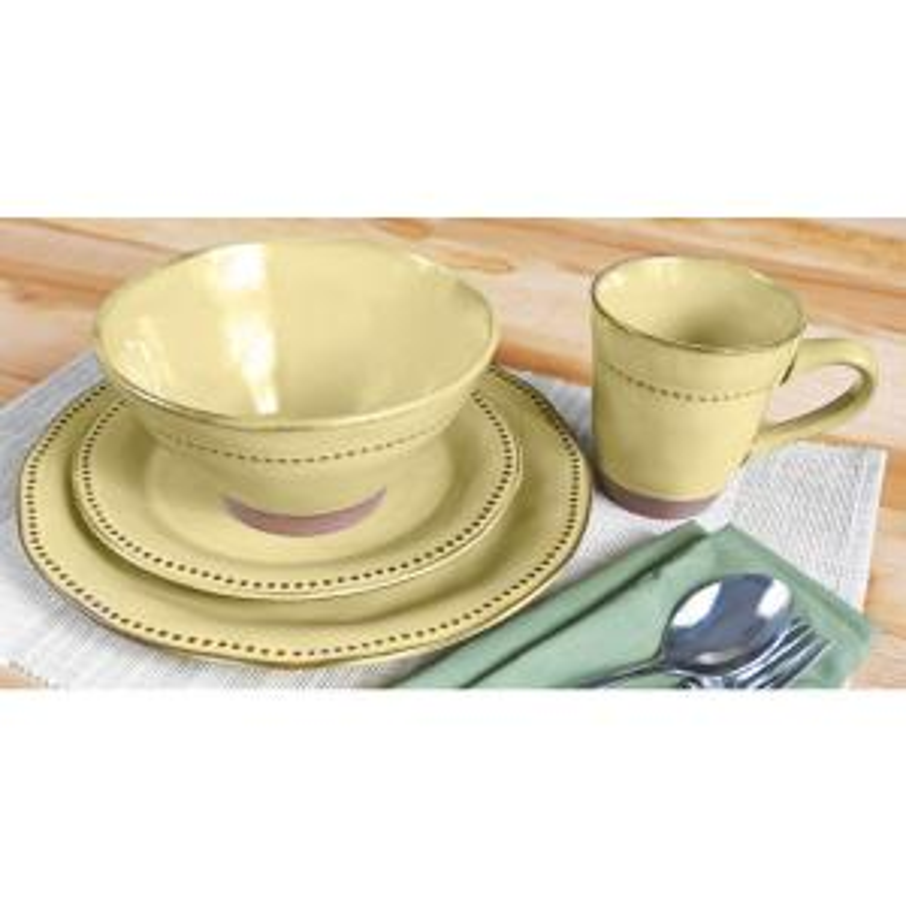 Sango Cyprus 16-Piece Beige Dinnerware Set-3583BG800ACM20 - The Home ...