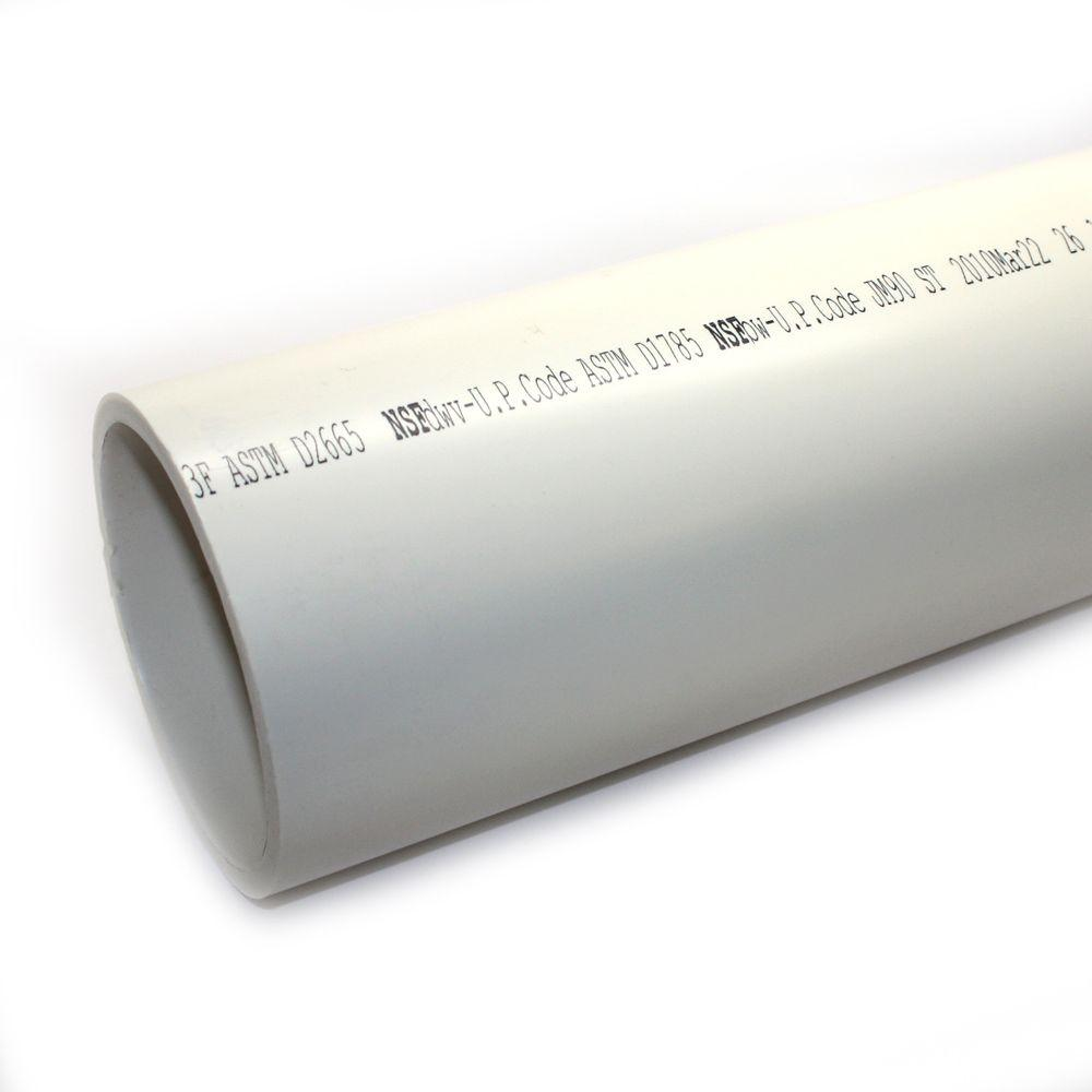 JM eagle 6 in. x 10 ft. PVC Schedule 40 DWV Foamcore Plain End Pipe