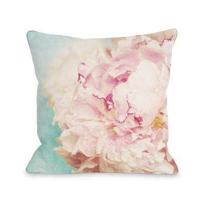 Delicate Peony 16 in. x 16 in. Decorative Pillow