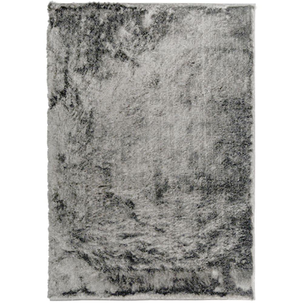 Home Decorators Collection So Silky Gray Polyester 8 ft. x 10 ft. Area Rug