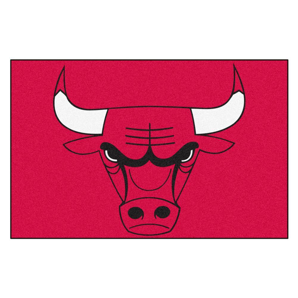 NBA Chicago Bulls Black 2 ft. x 3 ft. Area Rug