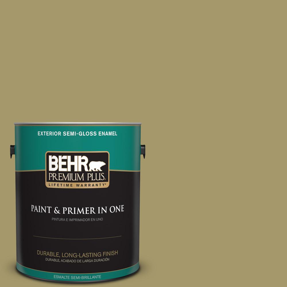 1 gal. #PPU8-05 Eco Green Semi-Gloss Enamel Exterior Paint