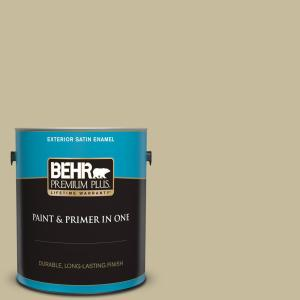 Behr Premium Plus 1 Gal 760d 4 Lion Satin Enamel Exterior Paint And Primer In One 940001 The Home Depot