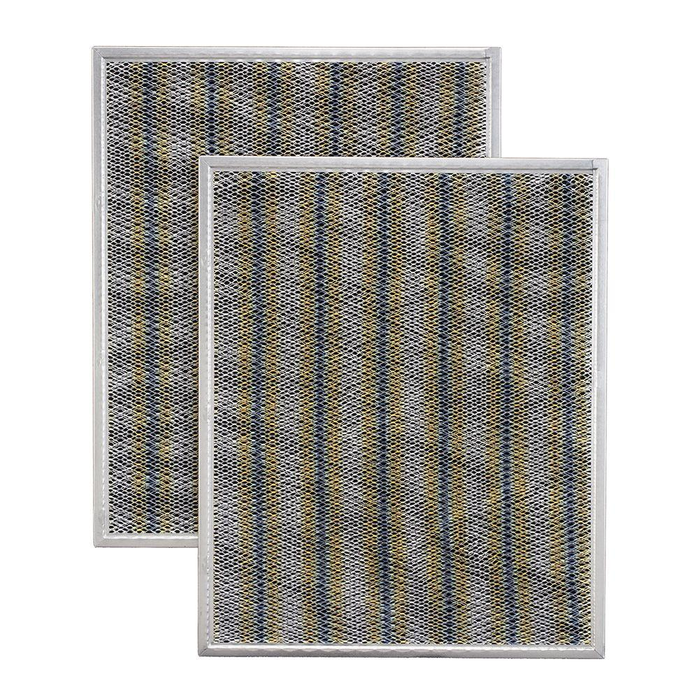 . Broan Charcoal Replacement Filters for Allure 1  2  3 Series 36 in   Ductless Range Hood  2 Pack