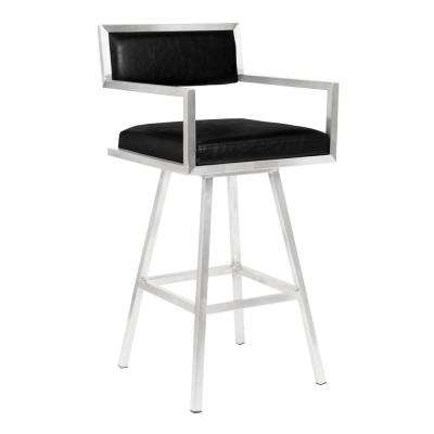 Dylan 26 in. Black Swivel Bar Stool