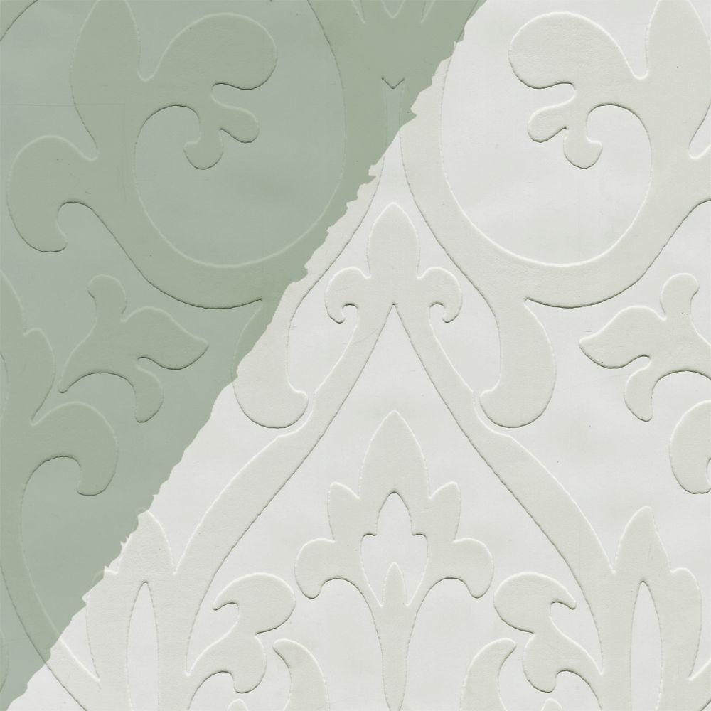 The Wallpaper Company 56 sq. ft. Paintables Iron Works Wallpaper
