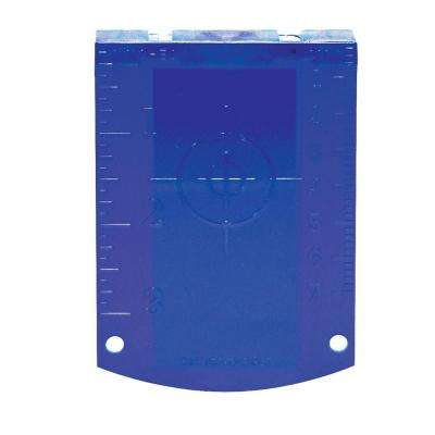 Magnetic Blue Target for Use with Green Lasers