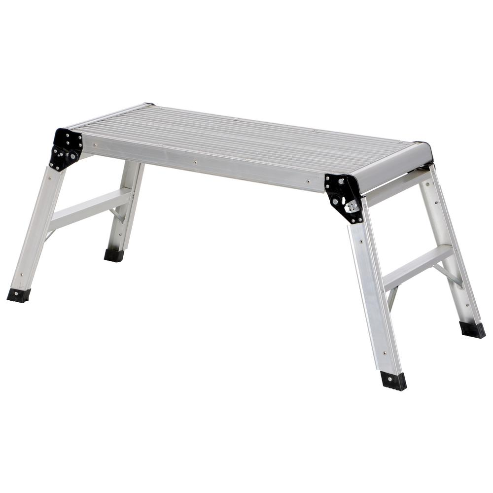15 in. x 35 in. Aluminum Folding Step Platform