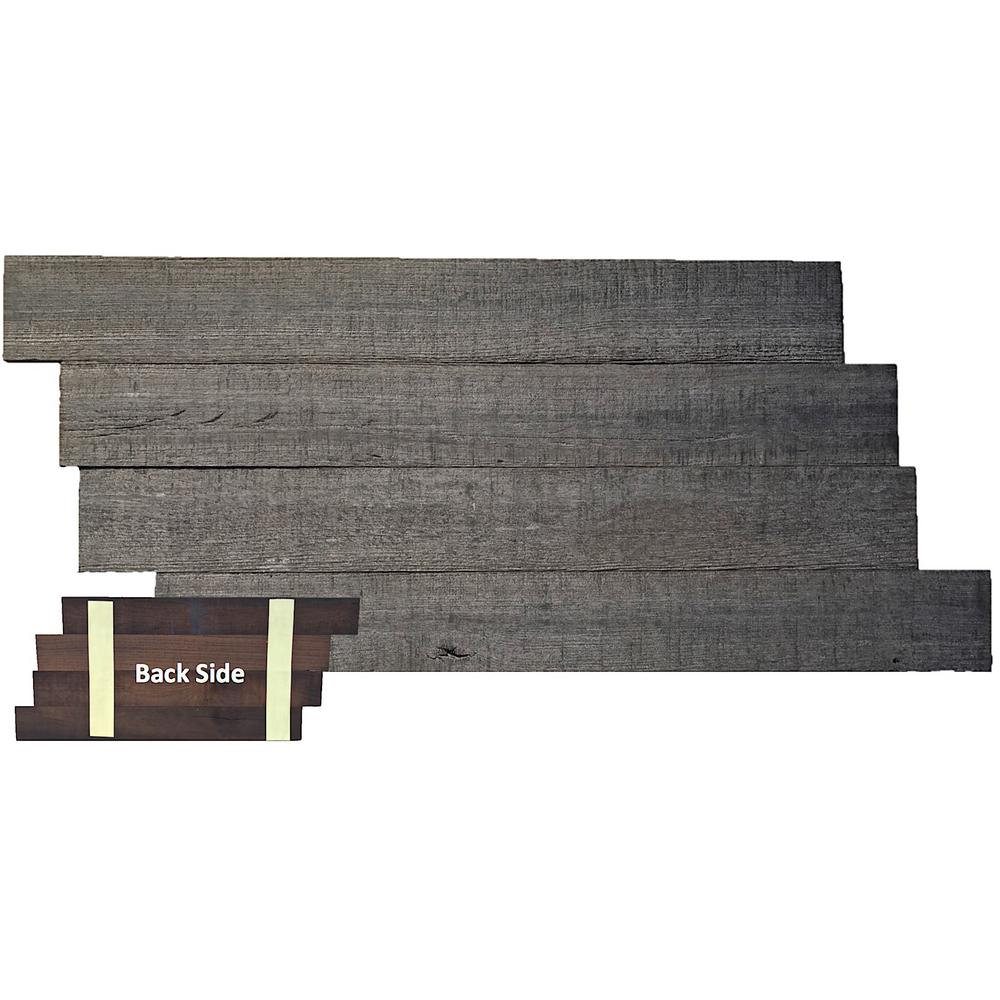 1/2 in. x 28 in. x Varying Length Gray Reclaimed Self-Sticky