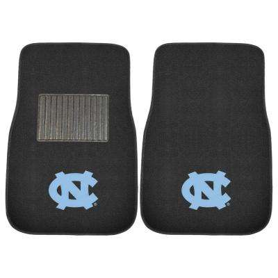NCAA UNC University of North Carolina - Chapel Hill 2-Piece 17 in. x 25.5 in. Carpet Embroidered Car Mat
