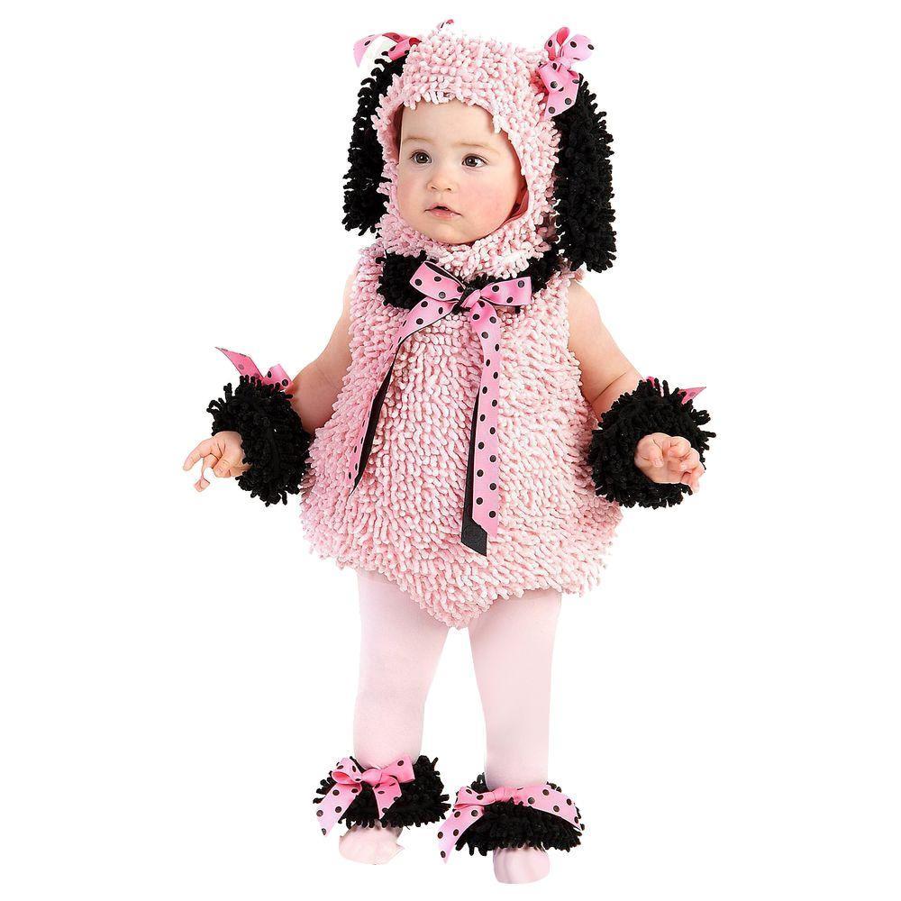 12-18 months Infant Toddler Pinkie Poodle Costume