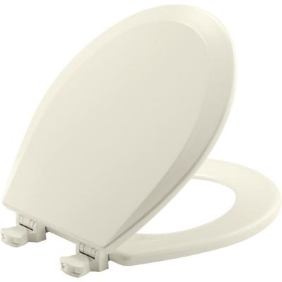 Lift-Off Round Closed Front Toilet Seat in Biscuit