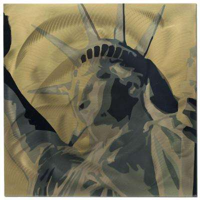 Brevium 22 in. x 22 in. Statue of Liberty Metal Wall Art