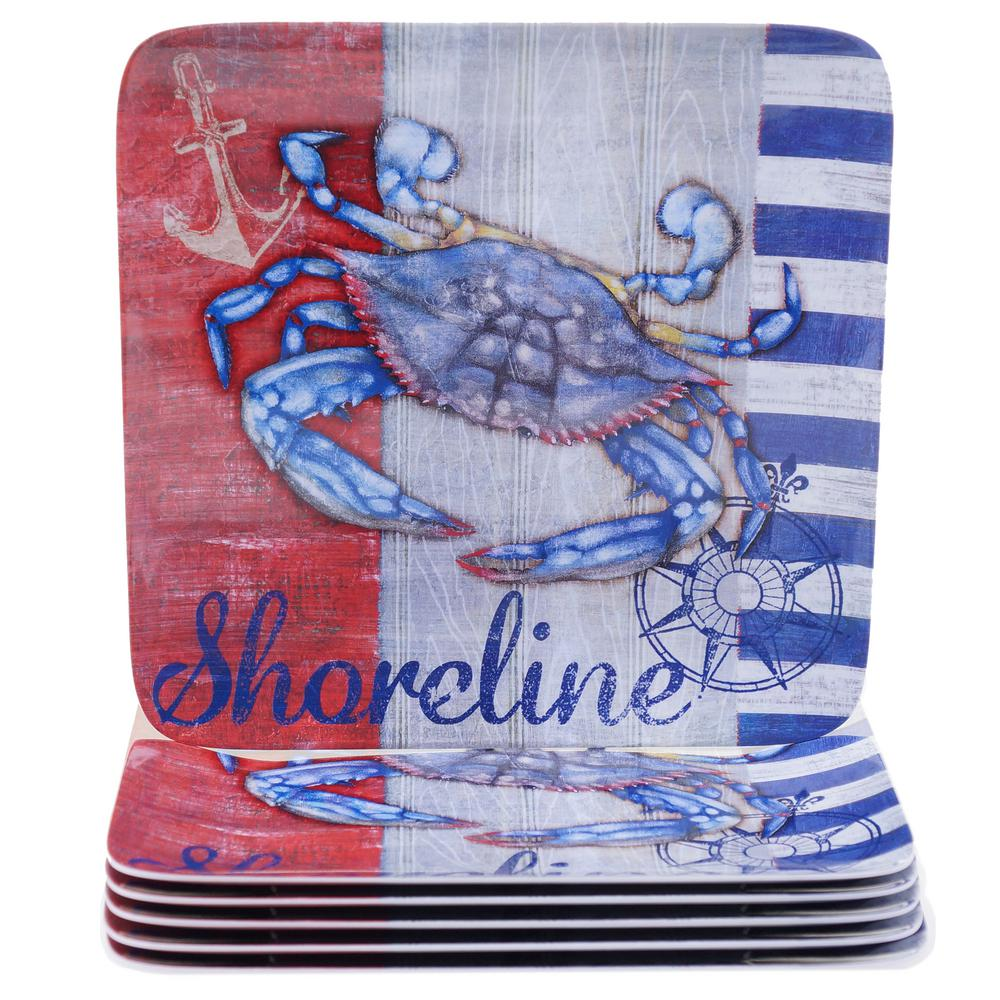 Maritime Crab Dinner Plate (Set of 6)