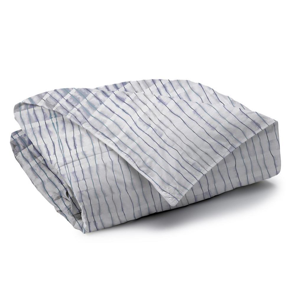 Echelon Reversible Print 100% Organic Cotton Wrinkle Resistant Duvet Set and Insert