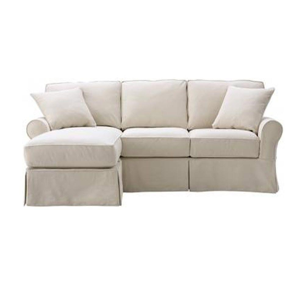 Sofa With Chaise Slipcover Easton Slipcover Sectional By